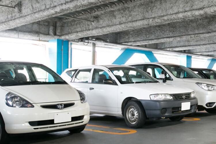 ホテル直結24時間利用可能な屋内駐車場